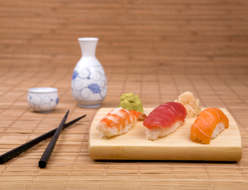 """Good combination of sake—Japanese enjoy food with sake!"""