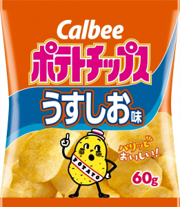 Light salt potato chips