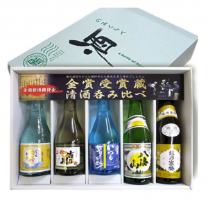 Popular Niigata Gold Award Winning Sake Brewer Comparison Set