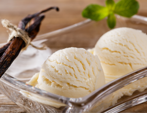 Pour sake into vanilla ice cream to make for a very delicious dessert